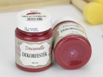 Decorolla matt dekorfesték 60ml meggypiros