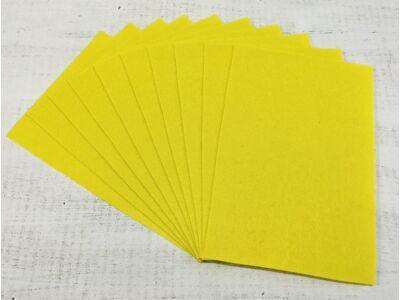 Filc A4-es 1-1,5mm 10ív/csomag - citromsárga