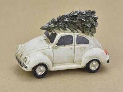 Vintage autó fenyőfával világítós bogárhátú