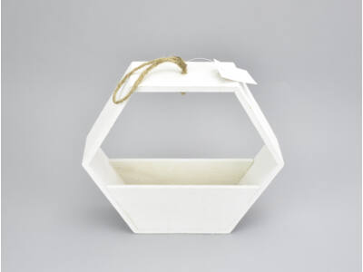 Fa hexagon fehér