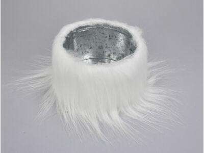 Doboz fém műszőr hosszú fehér