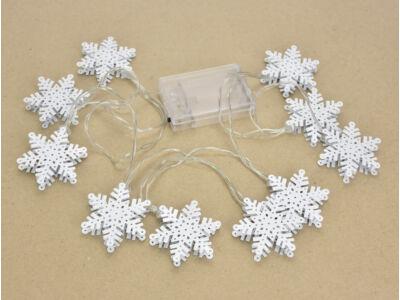 Világító girland dekoráció - hópihe