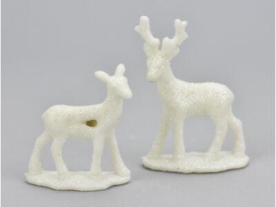 Mini szarvas pár fehér