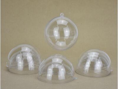 Ajándéktartó gömb műanyag 8cm 5db/csomag