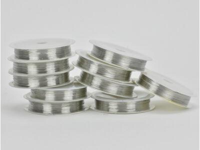 Ezüst dekordrót 0,4mm*8méter/10 tekercs - OKOS ÁR!