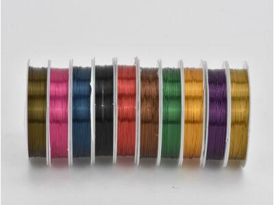 Vegyes színek dekordrót 0,4mm*8méter /10 tekercs - OKOS ÁR!