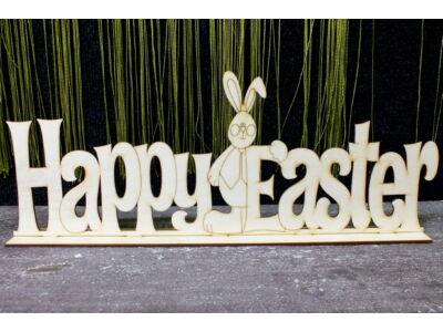 "Natúr fa - ""Happy Easter"" felirat"