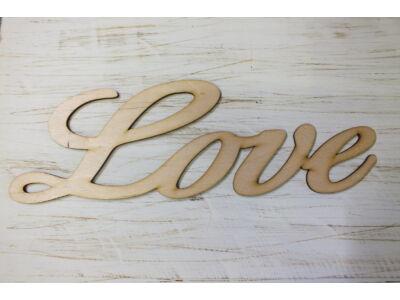"Natúr fa - ""Love"" felirat írott 35cm"