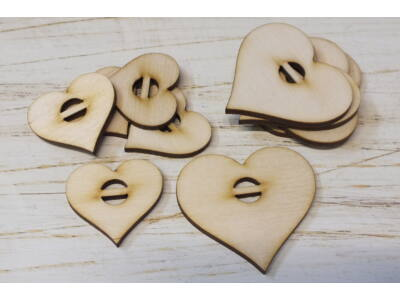 Felfűzhető szívek vízszintes 10db/csomag