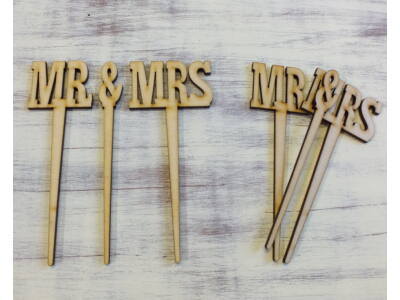 "Natúr fa - ""Mr & Mrs"" beszúrós"