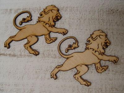 Natúr fa oroszlán gravírozott 2db/csomag
