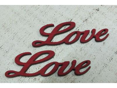 Love felirat meggypiros 2db/csomag