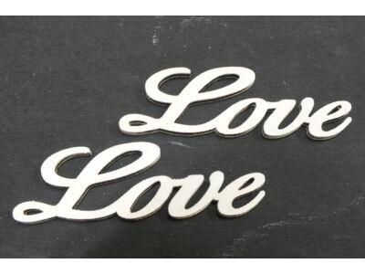 """Fa - """"Love"""" felirat fehér 8cm"""