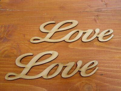 """Natúr fa - """"Love"""" felirat 15cm"""