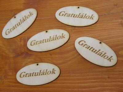 """Natúr fa - """"Gratulálok"""" ovál táblák"""