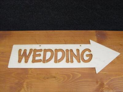 "Natúr fa - ""Wedding"" irányítótábla  hagyományos"