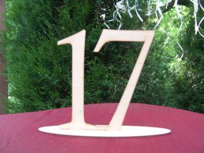 Natúr fa - Asztalszám 17-es