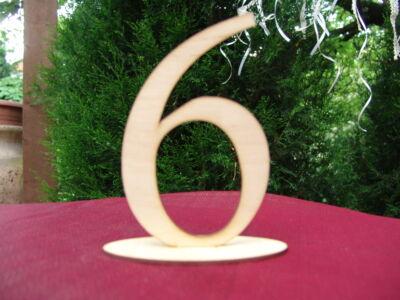 Natúr fa - Asztalszám 6-os