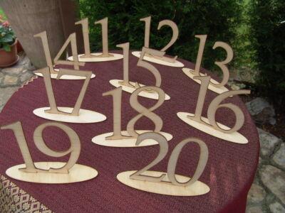 Natúr fa Asztalszám 11-20-ig 10db/csomag
