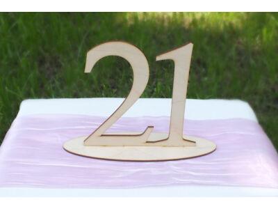Natúr fa - Asztalszám  21-es