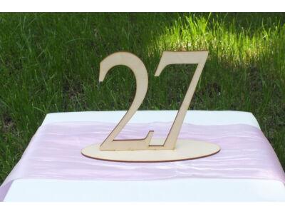Natúr fa - Asztalszám  27-es