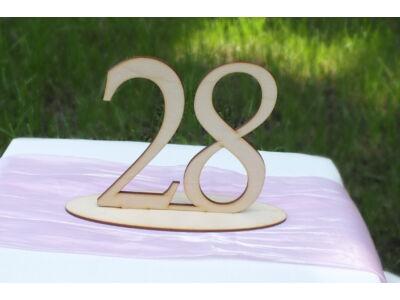 Natúr fa - Asztalszám  28-as