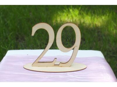 Natúr fa Asztalszám  29-es