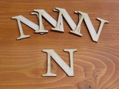 Natúr fa betű Carmen 5db/csomag