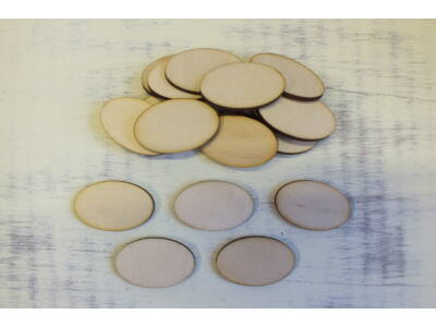 Natúr fa - Ovál tábla 2,5x4cm 20db/csomag