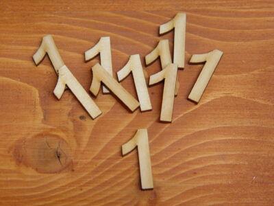 Natúr fa - Számok 1-es 3cm