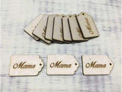 """Natúr fa - Scrapbook kisérő táblák """"Mama"""""""