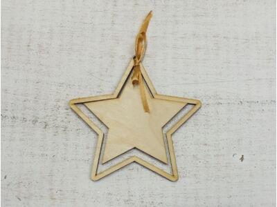 Natúr fa - Csillag kerettel