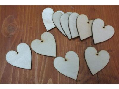 Natúr fa - Szív 5cm 10db/csomag