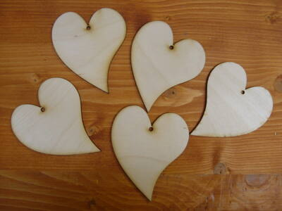 Natúr francia szív  5db/csomag