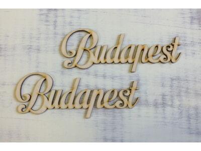 Budapest feirat 15cm