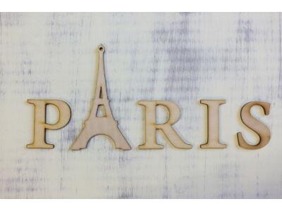 "Natúr fa - ""PARIS"" felirat Eiffel toronnyal"
