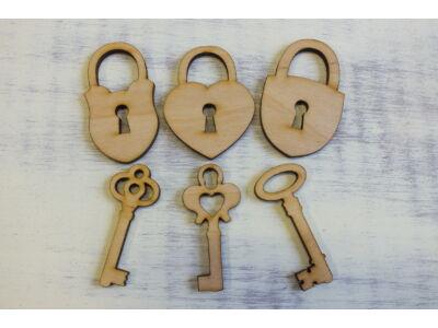 Natúr fa - Lakat kulcssal 3szett/csomag