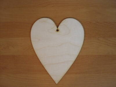 Natúr fa - Szív 20cm