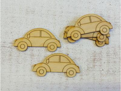 Natúr fa - Autó rajzos 7cm