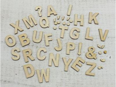 Natúr fa - ABC betűszett 3cm
