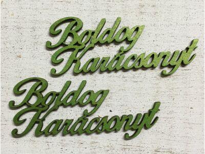 Boldog karácsonyt felirat 10cm zöld