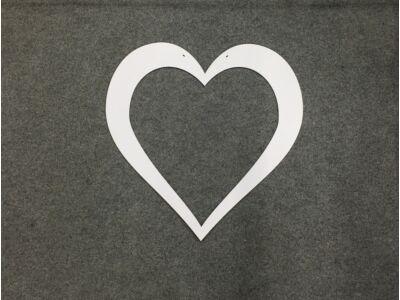 Fa szív keret fehér 55cm