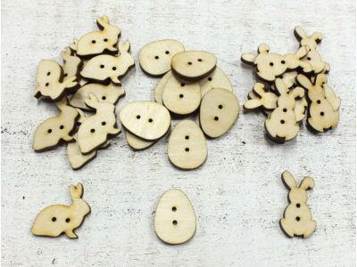 Natúr fa - Húsvéti gombok 30db/csomag