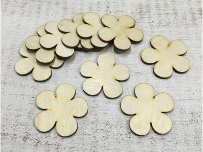Natúr fa - Kerek szirmú virág 5cm 10db/csomag