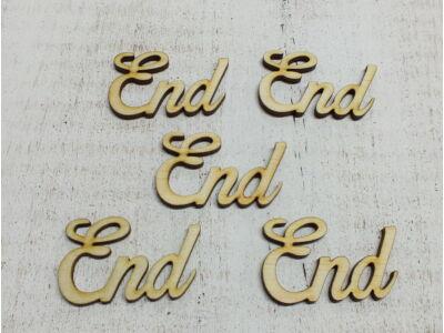 "Natúr fa - ""End"" felirat 5cm"