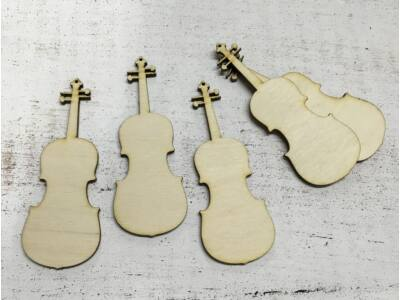 Natúr fa - Hegedű 10cm