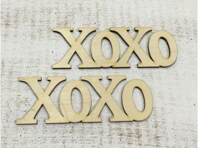 """Natúr fa - """"Xoxo"""" felirat 15cm 2db/csomag"""