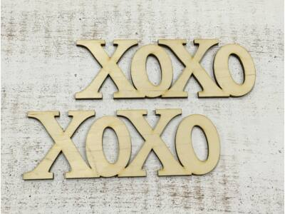 "Natúr fa - ""Xoxo"" felirat 15cm"