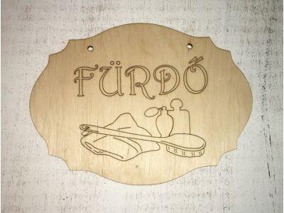 """Natúr fa - """"Fürdő""""  rajzos tábla"""