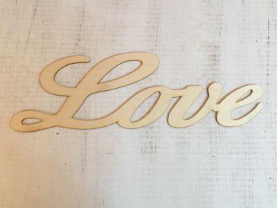 """Natúr fa - """"Love"""" felirat 50cm"""